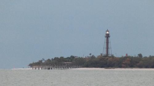 Sanibel Lighthouse welcomed us with its warm cheery glow.